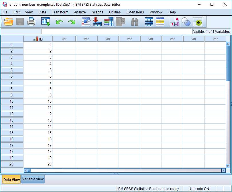 SPSS Dataview con ID
