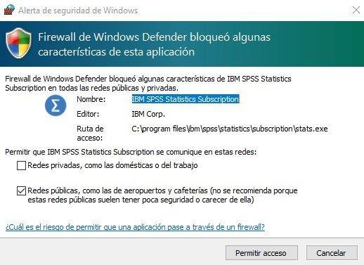 spss-bloqueado-firewall-windows